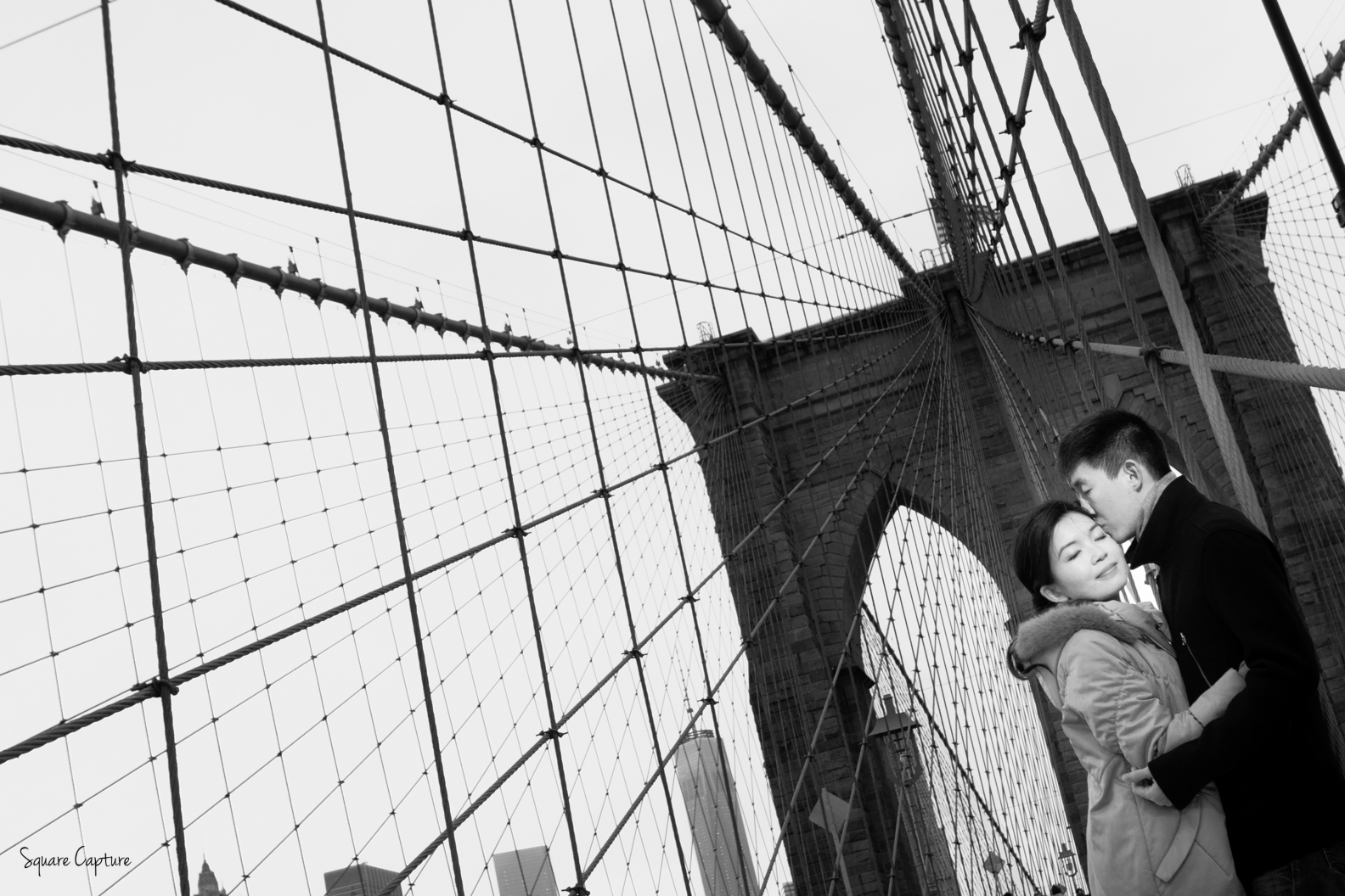 Engagement Proposal Photographer NYC New York Brooklyn Bridge